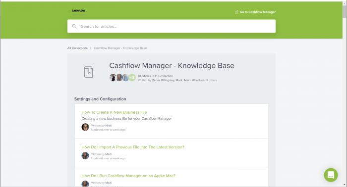 Knowledge Base: Your Cashflow Manager Help Centre   Cashflow