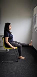 Chair yoga: leg stretch