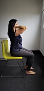 Chair yoga: shoulder circles