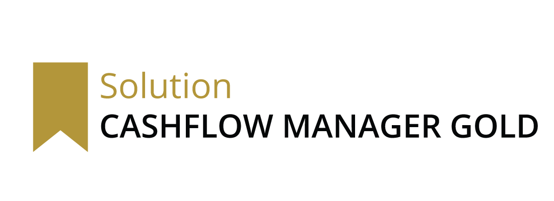 Cashflow Manager Gold logo with gold banner