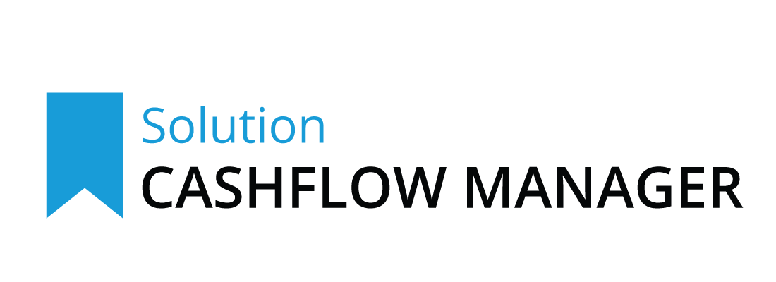 Cashflow Manager subscription logo with blue banner