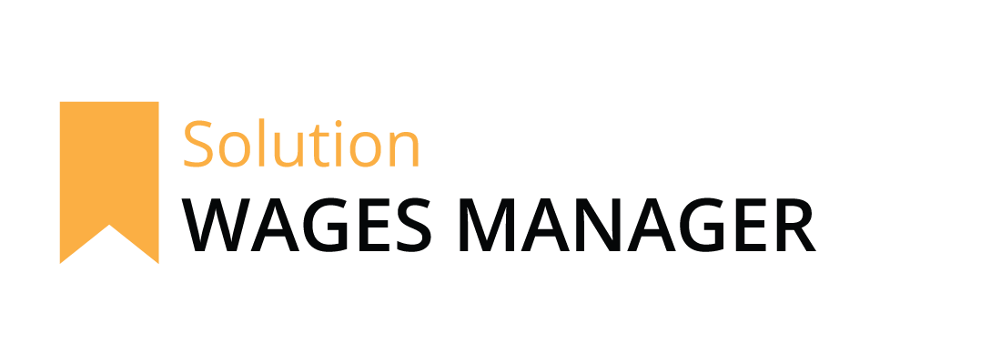 Wages Manager logo with orange banner